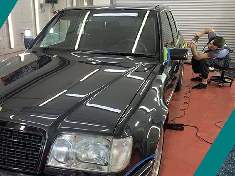 Картинка процесс полировки авто
